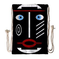 Decorative mask Drawstring Bag (Large)