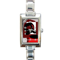 Crazy abstraction Rectangle Italian Charm Watch