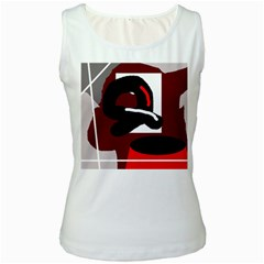 Crazy abstraction Women s White Tank Top