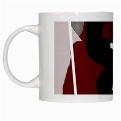 Crazy abstraction White Mugs