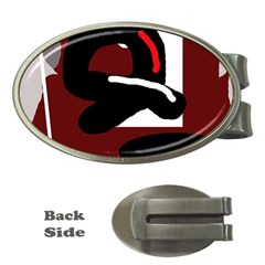 Crazy abstraction Money Clips (Oval)