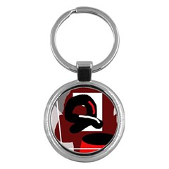 Crazy abstraction Key Chains (Round)