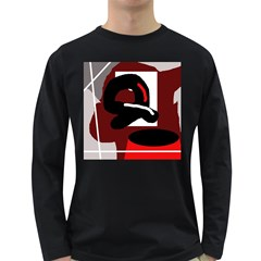 Crazy abstraction Long Sleeve Dark T-Shirts