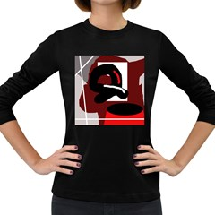 Crazy abstraction Women s Long Sleeve Dark T-Shirts