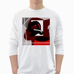 Crazy abstraction White Long Sleeve T-Shirts