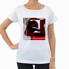 Crazy abstraction Women s Loose-Fit T-Shirt (White)
