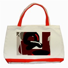 Crazy abstraction Classic Tote Bag (Red)