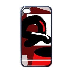 Crazy abstraction Apple iPhone 4 Case (Black)