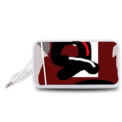 Crazy abstraction Portable Speaker (White)