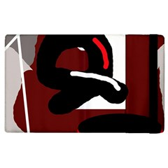 Crazy abstraction Apple iPad 3/4 Flip Case