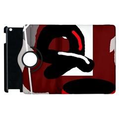 Crazy abstraction Apple iPad 3/4 Flip 360 Case
