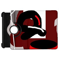 Crazy abstraction Kindle Fire HD Flip 360 Case