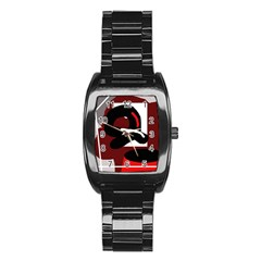 Crazy abstraction Stainless Steel Barrel Watch
