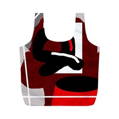 Crazy abstraction Full Print Recycle Bags (M)