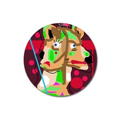 Abstract animal Magnet 3  (Round)