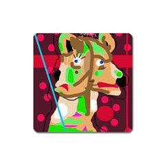 Abstract animal Square Magnet