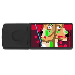 Abstract animal USB Flash Drive Rectangular (2 GB)
