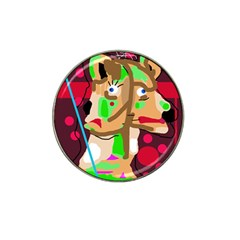 Abstract animal Hat Clip Ball Marker (4 pack)