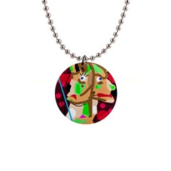 Abstract animal Button Necklaces