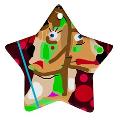 Abstract animal Star Ornament (Two Sides)