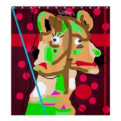 Abstract animal Shower Curtain 66  x 72  (Large)