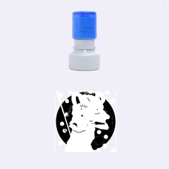 Abstract animal Rubber Round Stamps (Small)