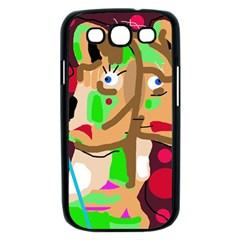 Abstract animal Samsung Galaxy S III Case (Black)
