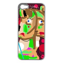Abstract animal Apple iPhone 5 Case (Silver)
