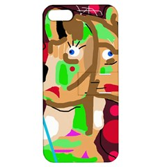 Abstract animal Apple iPhone 5 Hardshell Case with Stand