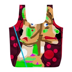 Abstract Animal Full Print Recycle Bags (l)