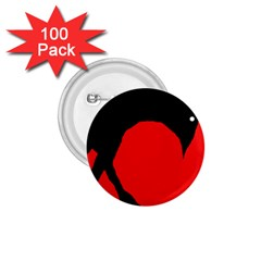 Black raven 1.75  Buttons (100 pack)
