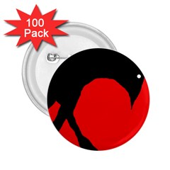 Black raven 2.25  Buttons (100 pack)