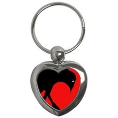 Black raven Key Chains (Heart)