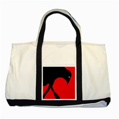 Black raven Two Tone Tote Bag