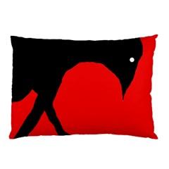 Black raven Pillow Case