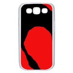 Black raven Samsung Galaxy S III Case (White)