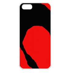 Black raven Apple iPhone 5 Seamless Case (White)