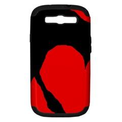 Black raven Samsung Galaxy S III Hardshell Case (PC+Silicone)
