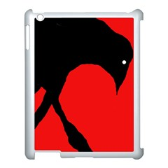 Black raven Apple iPad 3/4 Case (White)