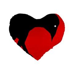 Black raven Standard 16  Premium Heart Shape Cushions