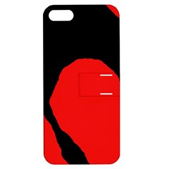 Black raven Apple iPhone 5 Hardshell Case with Stand