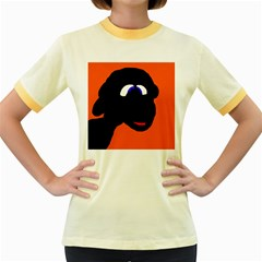 Black sheep Women s Fitted Ringer T-Shirts
