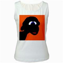 Black sheep Women s White Tank Top