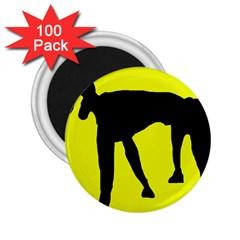 Black dog 2.25  Magnets (100 pack)