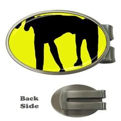 Black dog Money Clips (Oval)