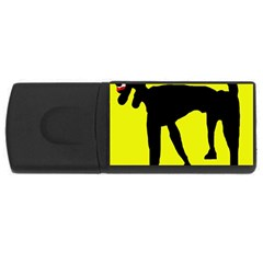 Black dog USB Flash Drive Rectangular (2 GB)