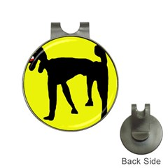 Black dog Hat Clips with Golf Markers