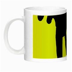 Black dog Night Luminous Mugs