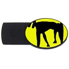 Black dog USB Flash Drive Oval (4 GB)