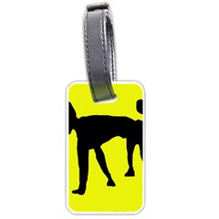 Black dog Luggage Tags (Two Sides)
